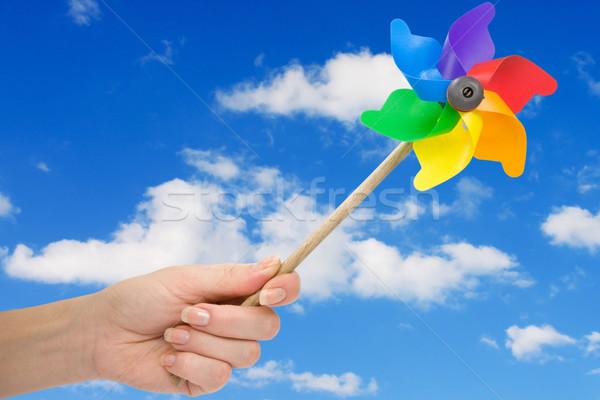 Hand holding pinwheel Stock photo © Grazvydas
