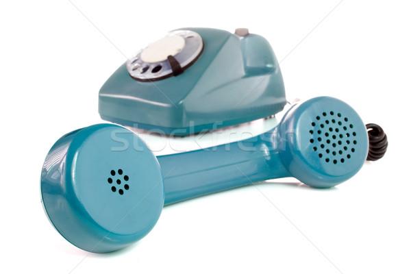 old blue telephone Stock photo © Grazvydas