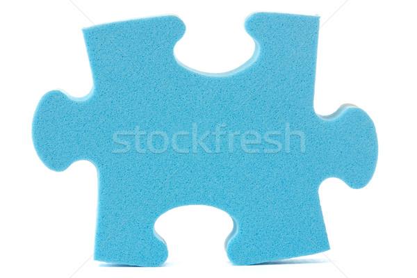 синий головоломки кусок белый текстуры успех Сток-фото © Grazvydas