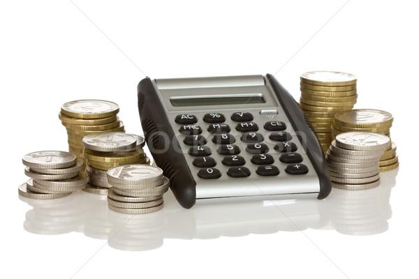 calculator and stack of coins  Stock photo © Grazvydas
