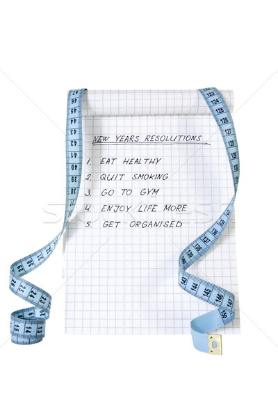 list of resolutions with measure tape Stock photo © Grazvydas