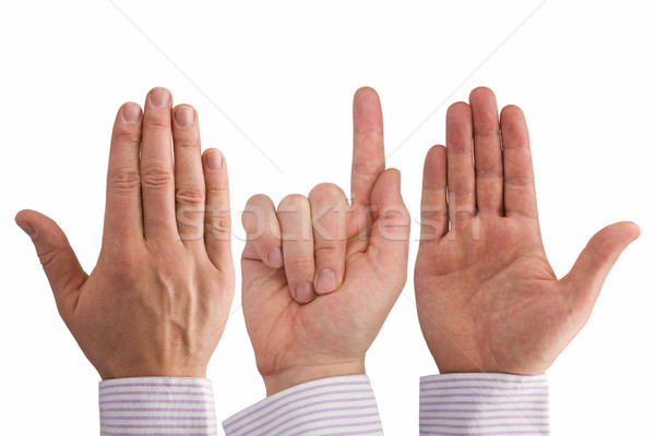 three hands expressing different symbols Stock photo © Grazvydas