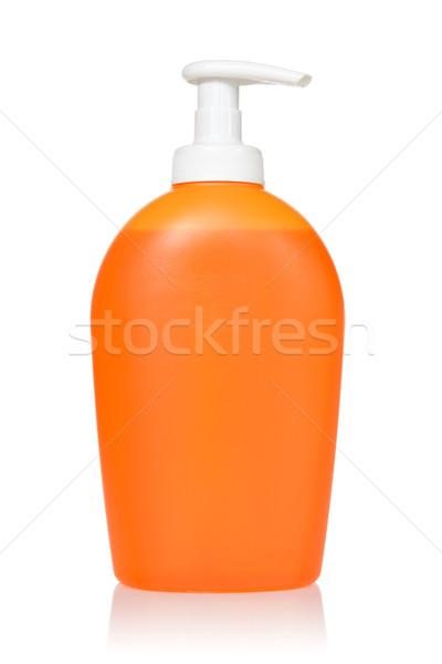 Laranja detergente isolado branco garrafa cuidar Foto stock © Grazvydas