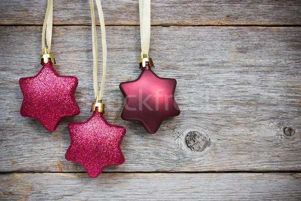 Impiccagione Natale stelle star legno vacanze Foto d'archivio © Grazvydas