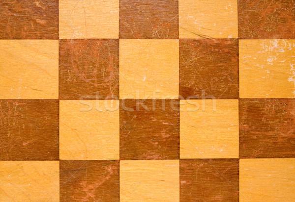 wooden checkers board table Stock photo © Grazvydas