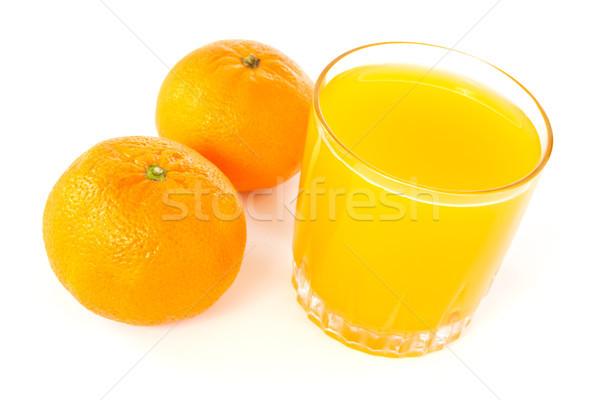 mandarines and juice glass  Stock photo © Grazvydas
