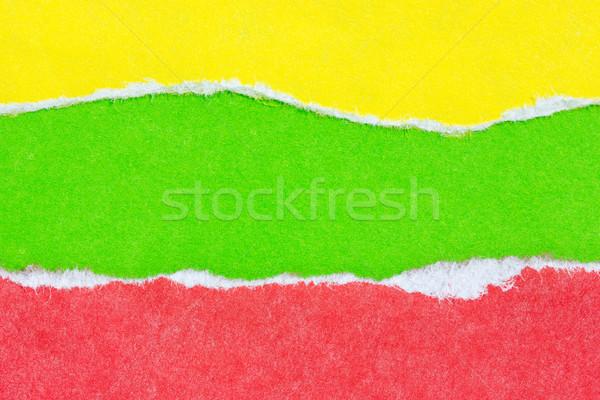 Szín papír szakadt űr textúra absztrakt Stock fotó © Grazvydas