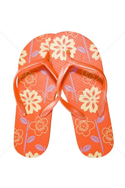 flip flops isolated on white Stock photo © Grazvydas