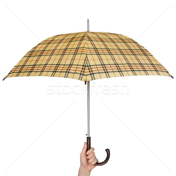 зонтик стороны изолированный белый дождь Сток-фото © Grazvydas