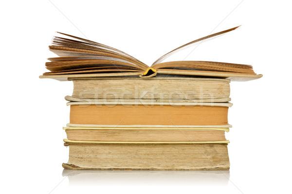 старые книгах отражение белый книга Сток-фото © Grazvydas