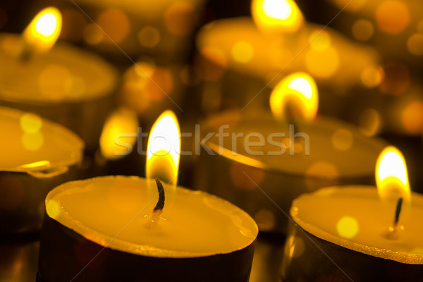 Burning candles with shallow depth of field Stock photo © Grazvydas
