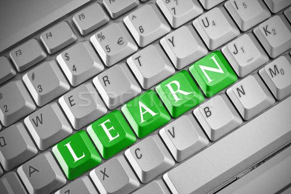 Internet istruzione tastiera parola imparare business Foto d'archivio © Grazvydas