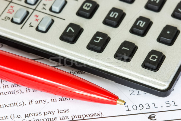 Tax or taxes concept Stock photo © Grazvydas