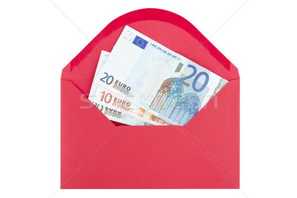 Bezahlung Umschlag rot Dollar isoliert weiß Stock foto © Grazvydas
