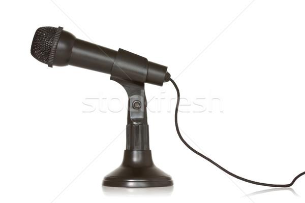 черный динамический микрофона белый музыку связи Сток-фото © Grazvydas