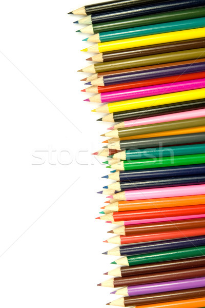 set of coloured pencils Stock photo © Grazvydas