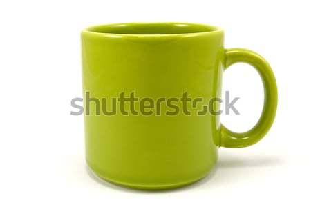 Verde ceramica tazza da tè isolato bianco tè Foto d'archivio © Grazvydas