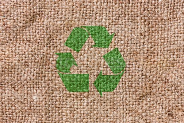Grezzo tela riciclare segno eco bag Foto d'archivio © Grazvydas