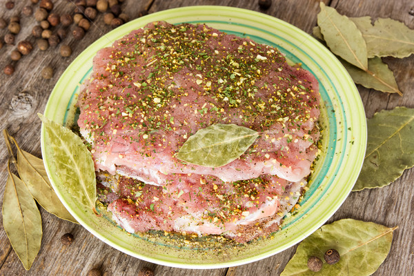 Raw pork with spices  Stock photo © Grazvydas