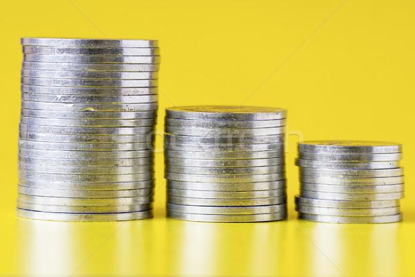Argento monete giallo finanziare assicurazione buy Foto d'archivio © Grazvydas