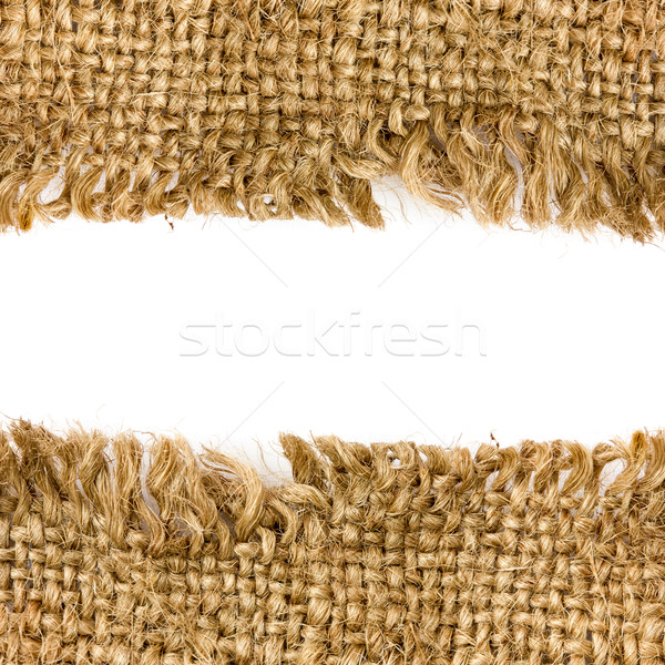 Fronteira pano de saco cópia espaço abstrato fundo tecido Foto stock © Grazvydas