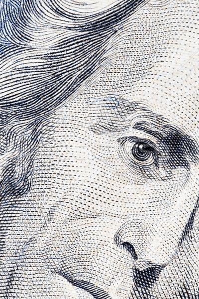 Veinte dólares retrato primer plano negocios dinero Foto stock © Grazvydas