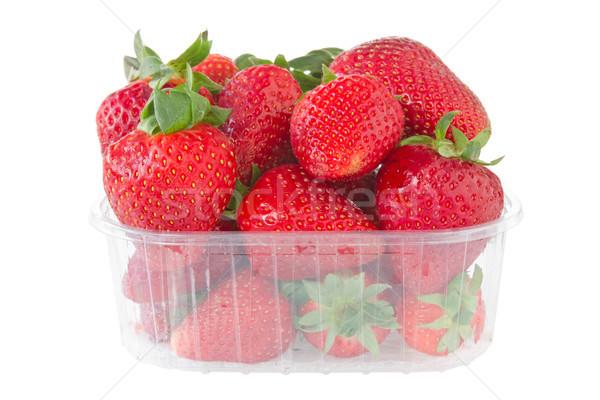 Erdbeeren isoliert weiß Essen Natur Sommer Stock foto © Grazvydas