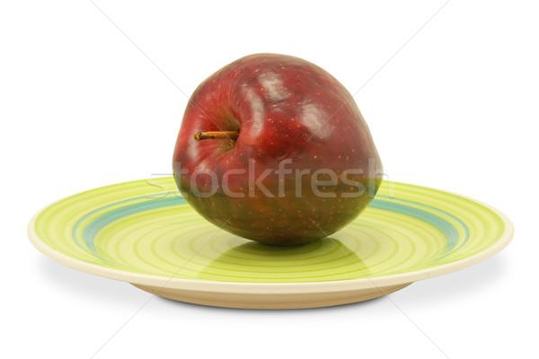 Verde piatto mela rossa bianco mela rosso Foto d'archivio © Grazvydas