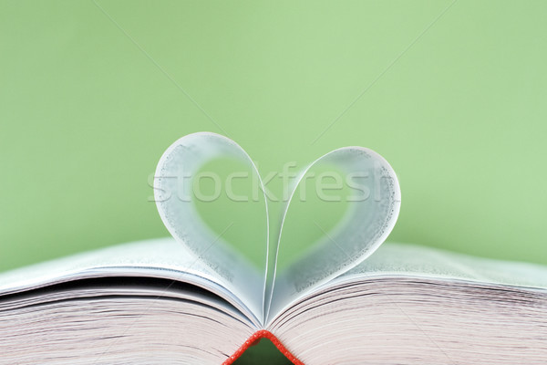 book with bent pages in the form of heart Stock photo © Grazvydas