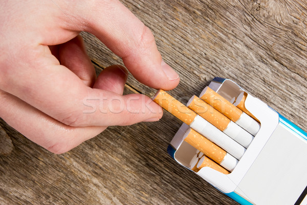 Hand takes a cigarette Stock photo © Grazvydas