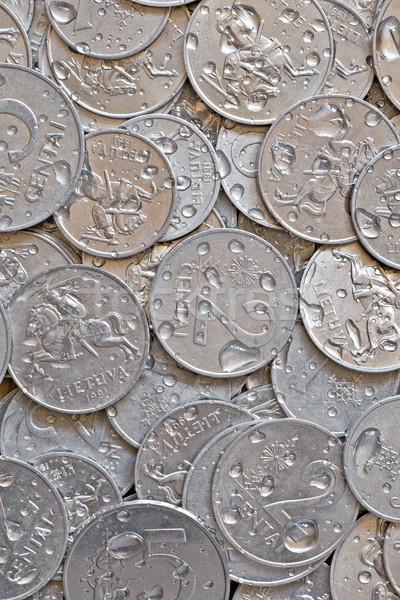 Umido argento monete soldi primo piano casino Foto d'archivio © Grazvydas