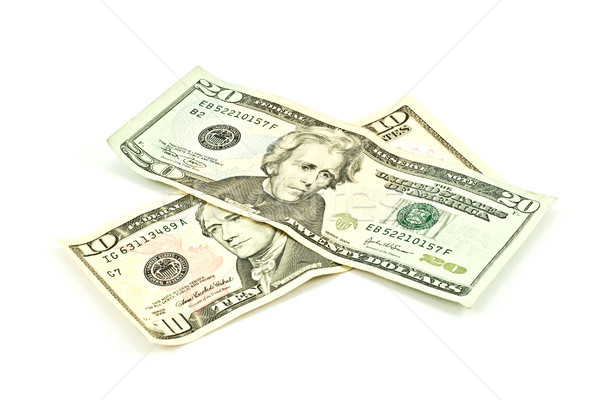 Stock photo: banknotes of ten and twenty dollars