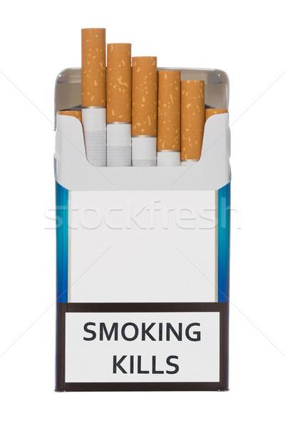 Pack of smoking kills cigarettes Stock photo © Grazvydas