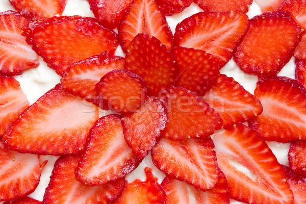 fresh and tasty strawberry cake Stock photo © Grazvydas