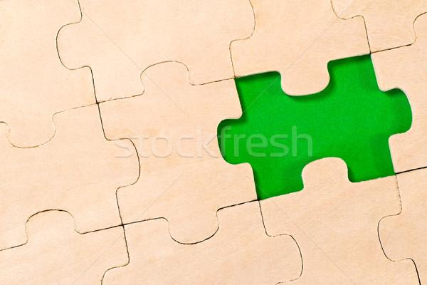 green missed piece Stock photo © Grazvydas