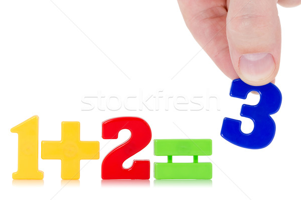 Simple math example  Stock photo © Grazvydas
