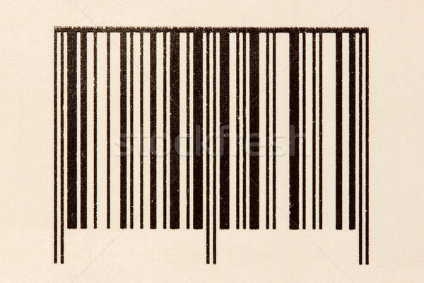 Barcode on the cardboard Stock photo © Grazvydas