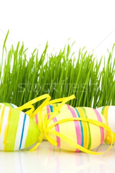 Multicolore easter eggs erba verde verde primavera erba Foto d'archivio © Grazvydas