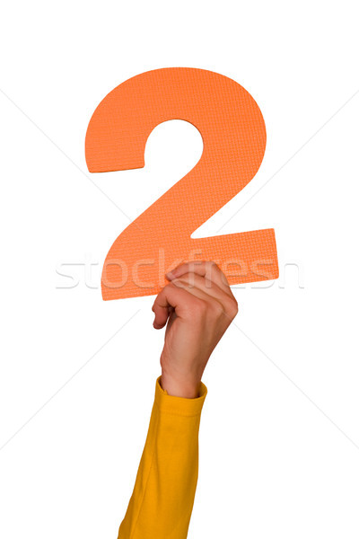 number two in hand Stock photo © Grazvydas