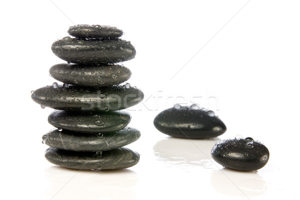 wet zen stones Stock photo © Grazvydas