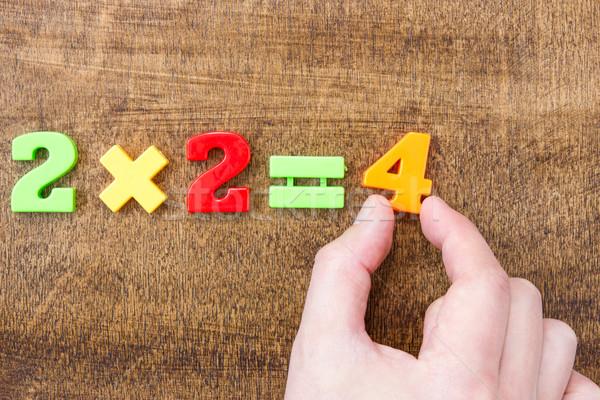 Solving simple mathematical formula Stock photo © Grazvydas