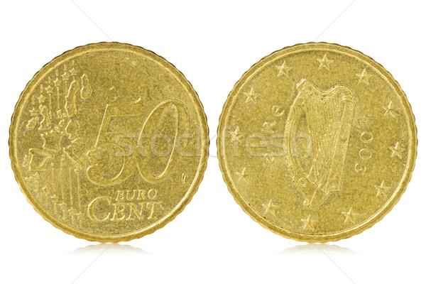 Fifty euro cent of Ireland Stock photo © Grazvydas