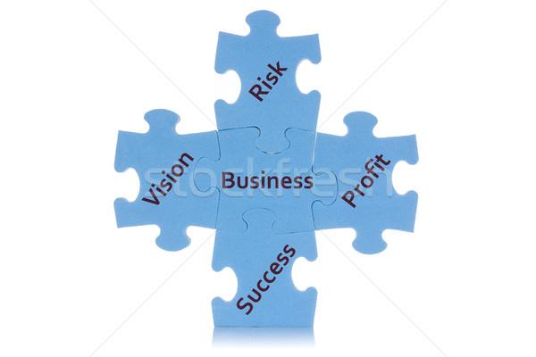 Puzzle business contenuti pezzi Foto d'archivio © Grazvydas