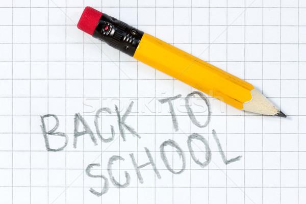 Scritto carta matita Foto d'archivio © Grazvydas
