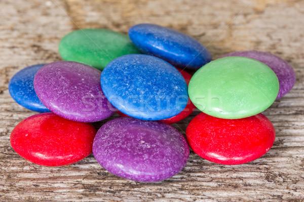 Colorato candy legno cioccolato gruppo Foto d'archivio © Grazvydas