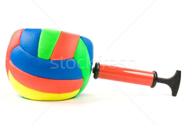 воздуха насос цвета мяча белый спорт Сток-фото © Grazvydas