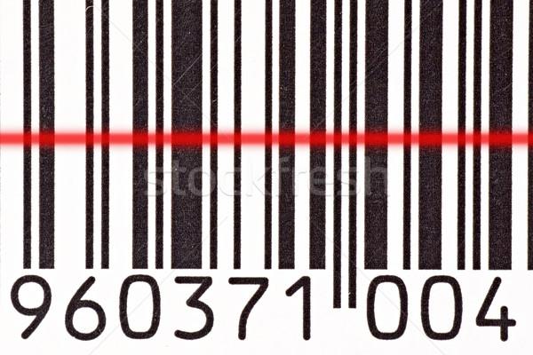 Código de barras lector código de barras láser negocios rojo Foto stock © Grazvydas