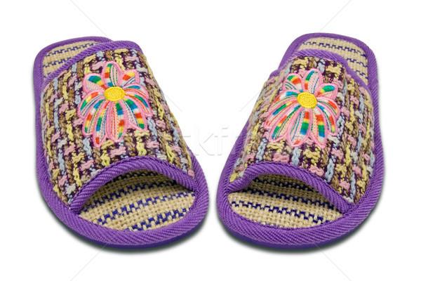 woman house slippers Stock photo © Grazvydas