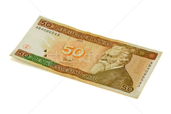 пятьдесят банкнота изолированный белый рынке власти Сток-фото © Grazvydas