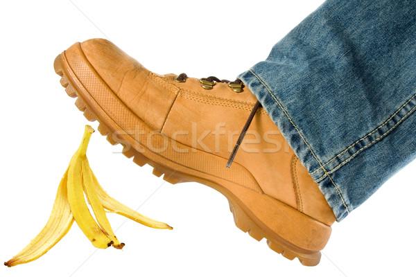 Man stepping on banana peel Stock photo © Grazvydas